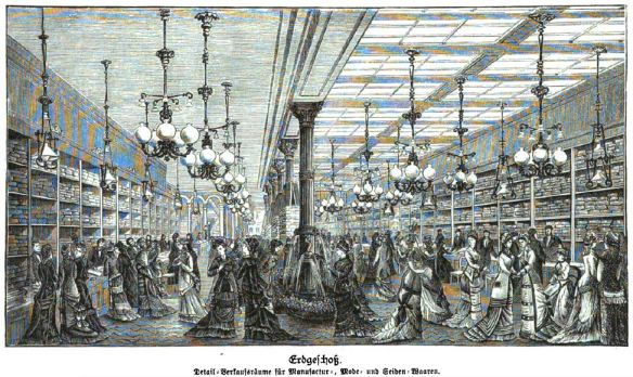 000_Illustrirte Zeitung_078_1882_p268_Kaufhaus_Rudolph-Hertzog_Berlin_Einkaufen_Verkaufsräume_Gaslicht_Stoffe