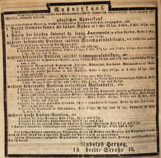 000_Königlich privilegirte Berlinische Zeitung_1849_11_18_No270_Rudolph-Hertzog_Stoffe_Ausverkauf