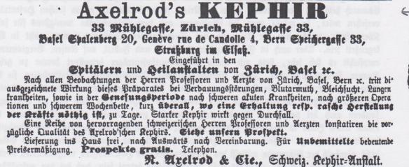 00_Schweizerische Blätter für Gesundheitspflege_NF03_1888_p030_Kefir_Axelrod_Zürich