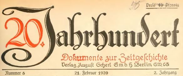 20. Jahrhundert_02_1920_p113_Zeitschrift_Scherl_Revanchismus_Nationalismus