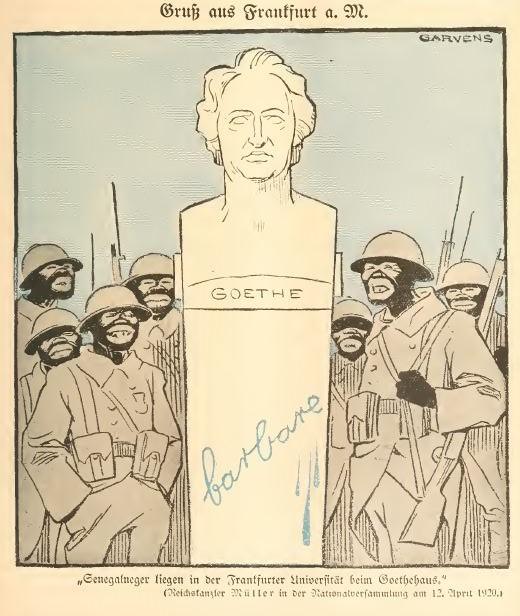 20. Jahrhundert_02_1920_p225_Frankreich_Besatzungsherrschaft_Schwarze-Schande_Goethe_Frankfurt-M