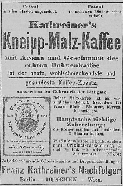 Allgemeine Zeitung_1892_01_14_Nr14_p04_Malzkaffee_Kathreiner_Kneipp