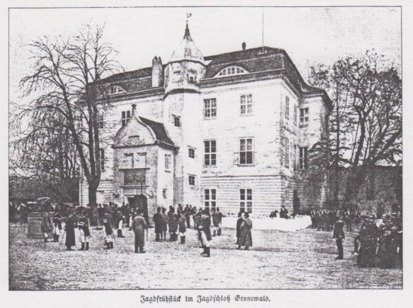 Dincklage-Campe_1898_p310_Jagdschloss_Grunewald_Frühstück_Hohenzollern