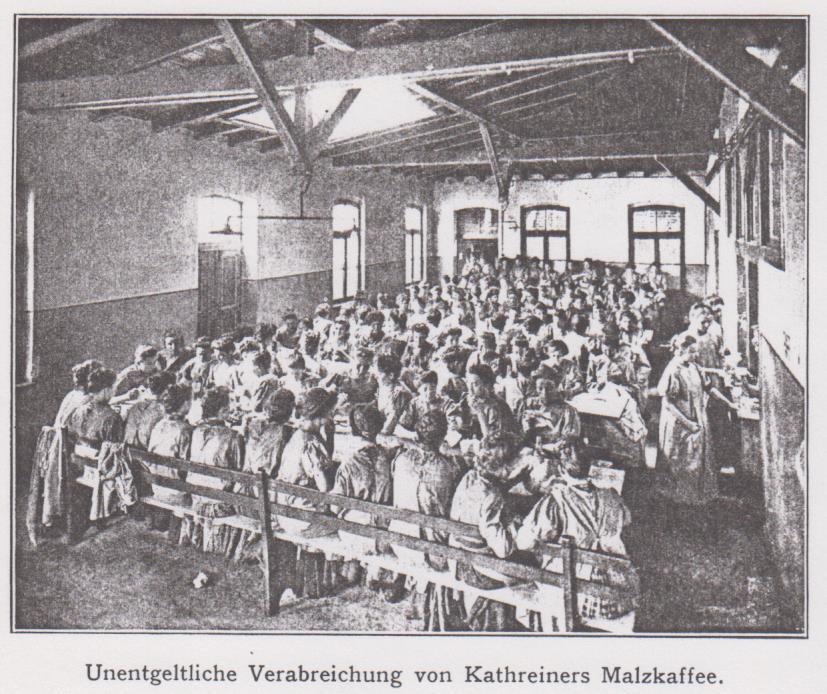 Fürsorge_1913_p196_Kaffeeausschank_Kantine_Kathreiner_München_Frauenarbeit