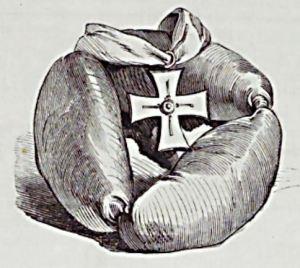 Kladderadatsch_24_1871_p064_Erbswurst_Eisernes-Kreuz_Schott