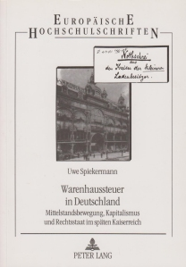 Titelblatt_A01_Warenhaussteuer in Deutschland