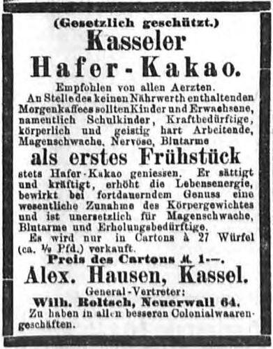 00_Hamburger Nachrichten_1892_08_13_Nr192_p07_Haferkakao_Hausen_Kassel