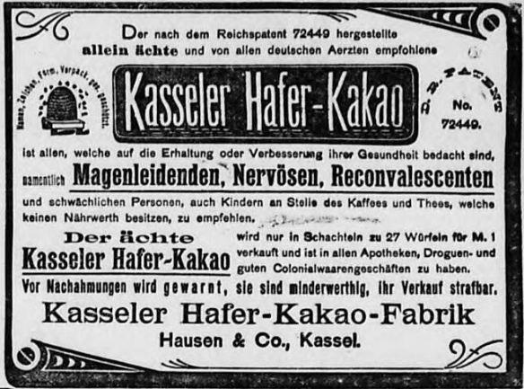 00_Hamburger Nachrichten_1894_09_30_Nr231_p17_Kasseler-Haferkakao_Frühstück_Plagiate_Heilmittel