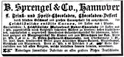 00_Illustrirte Zeitung_082_1884_p341_Kakao_Schokolade_B-Sprengel_Hannover_Medizinalschokolade