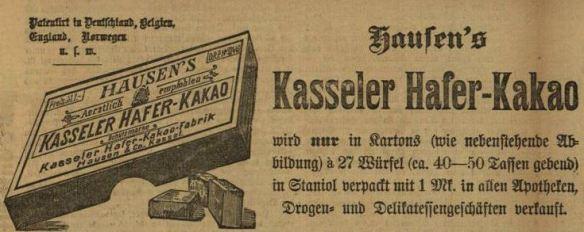 00_Karlsruher Tagblatt_1897_05_17_Nr136_Beilage_Kasseler-Haferkakao_Hausen_Verpackung