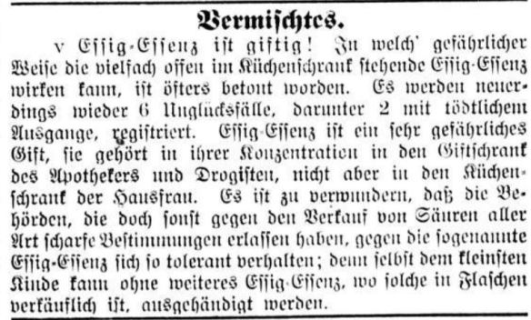 00_Sächsische Volkszeitung_1903_08_29_Nr196_p3_Essigessenz_Vergiftungen