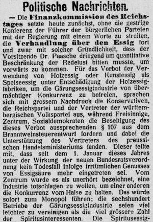 Berliner Börsenzeitung_1909_04_28_Nr196_p06_Essigessenz_Vergiftungen_Essigfabrikation