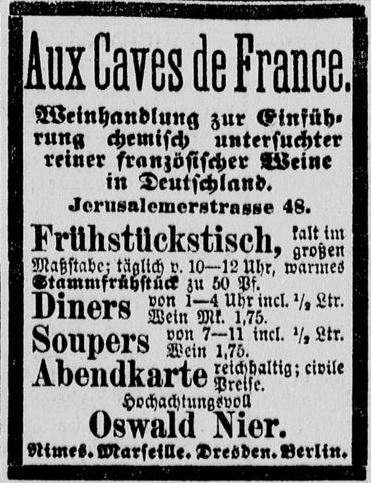05-Deutsches Montags-Blatt_1877_11_26_p06_Wein_Weinrestaurant_Aux-Caves-de-France_Oswald-Nier