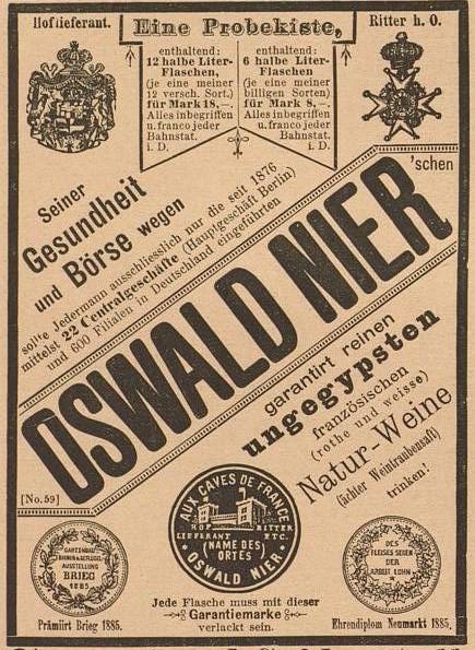 07-Illustrirte Frauen-Zeitung_13_1886_p144_Filialbetrieb_Wein_Oswald-Nier