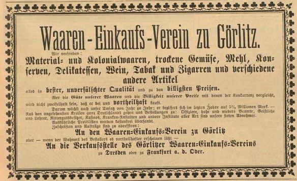 07_Der Bazar_39_1893_p403_Filialbetrieb_Wareneinkaufsverein_Görlitz_Versandgeschäft