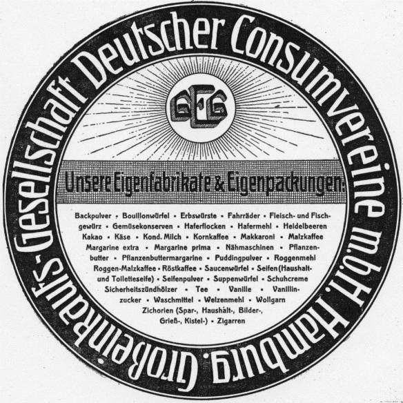 09_Konsumgenossenschaftliche Rundschau_08_1911_Nr35_pI_GEG_Konsumgenossenschaften_Sortiment_Handelsmarken