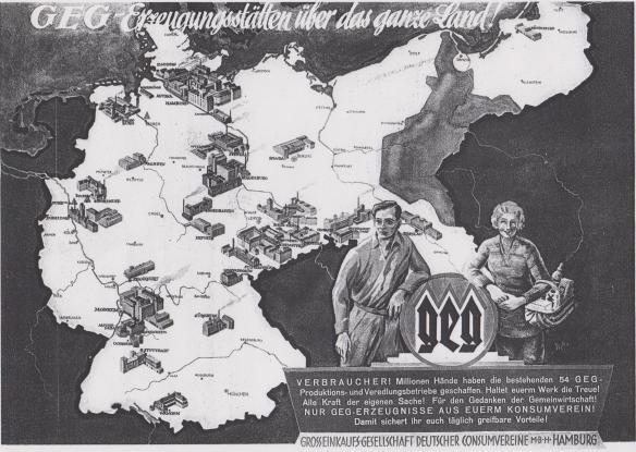 09_Konsumgenossenschaftliches Volksblatt_26_1933_Nr11_p16_GEG_Eigenproduktion_Konsumgenossenschaft_Karte