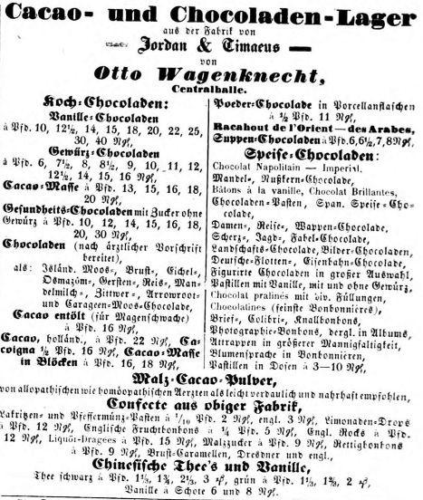 02_Leipziger Zeitung_1863_06_10_Nr136_p2914_Schokolade_Eichelschokolade_Jordan-Timaeus
