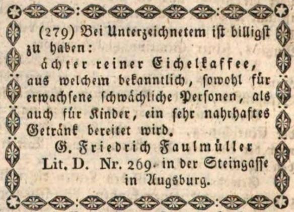 03_Augsburger Tagblatt_1833_01_31_Nr032_p124_Eichelkaffee