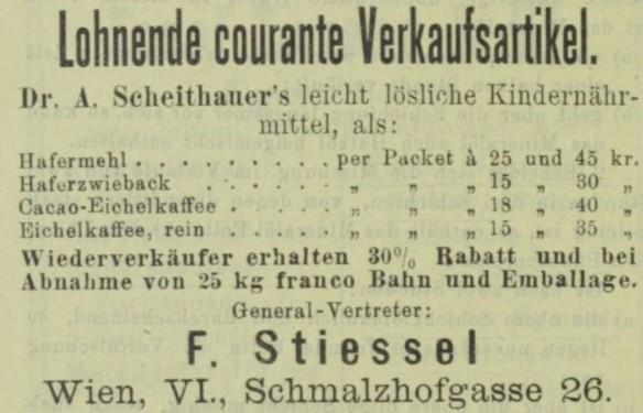 05_Drogisten-Zeitung_09_1894_p454_Säuglingsernährung_Eichelkaffee_Eichelkakao