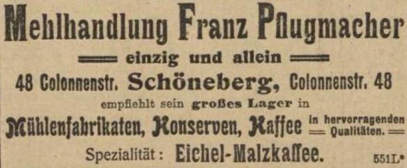 06_Vorwärts_1907_11_03_Nr258_p23_Eichelkaffee_Mehl_Eichelmalzkaffee