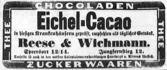 09_Hamburger Nachrichten_1892_09_08_Nr214_p10_Eichelkakao_Reese-Wichmann
