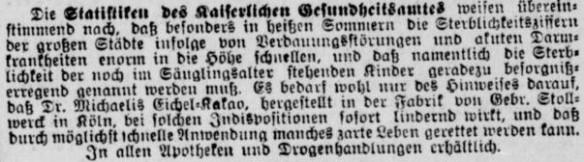 10_Berliner Tageblatt_1900_09_13_Nr465_p07_Eichelkakao_Dr-Michaelis_Stollwerck_Köln