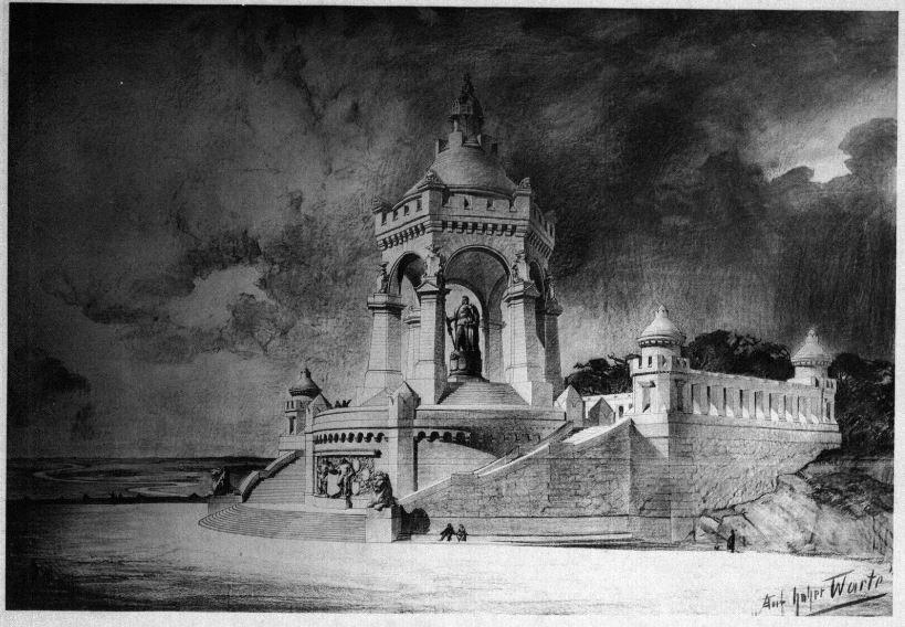 04_Blätter für Architektur und Kunsthandwerk_03_1890_Tafel102_Schmitz_Denkmal_Porta-Westfalica
