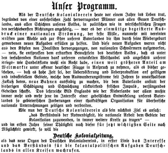 05_Deutsche Kolonialzeitung_01_1884_p002_Deutscher-Kolonialverein_Kolonialismus