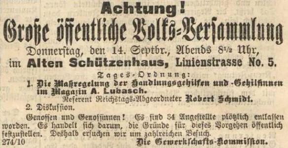 04_Protestversammlung gegen A. Lubasch_Vorwärts_1893_09_12_Nr214_p4