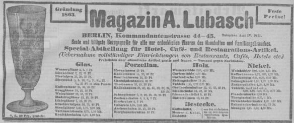 10_Anzeige Magazin A. Lubasch_Volks-Zeitung_1895_10_08_Nr471_p7