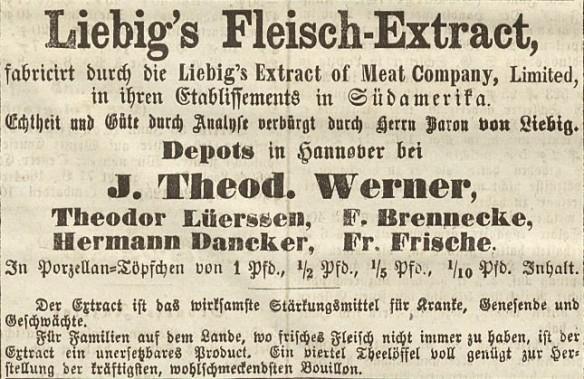 04_Hannoverscher Courier_1867_07_01_p4_Suppenpräparate_Liebigs-Fleischextrakt