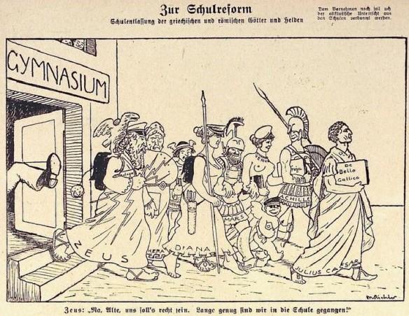 01_Kladderadatsch_72_1919_Nr02_Gymnasium_Humanismus_Alte-Sprachen_Schulreform