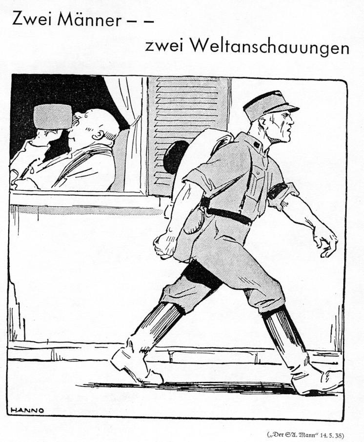 02_Auf der Wacht_55_1938_p41_Bierspießer_Nationalsozialist