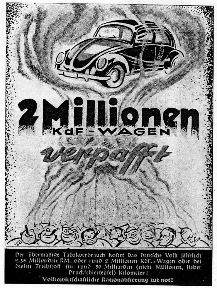 05_Auf der Wacht_56_1939_p17_Rauchen_Volkswagen_KdF-Wagen