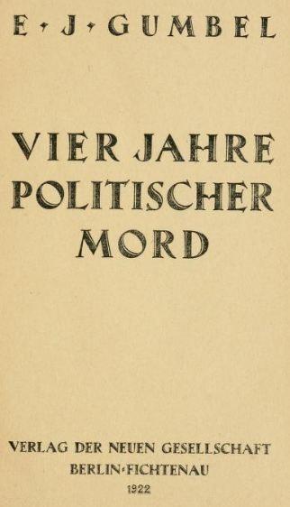 07_Gumbel_1922_Vier Jahre Politischer Mord