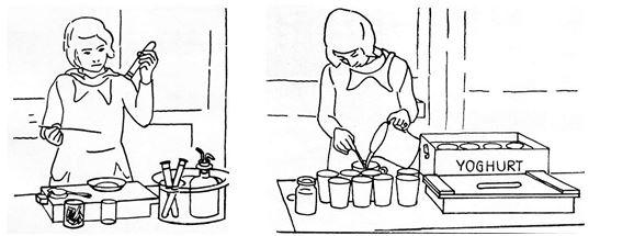 09_Forschungen zur Alkoholfrage_43_1935_p74 und 75_Schule_Joghurt_Milchprodukte