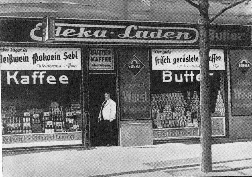 12_Deutsche-Handels-Rundschau_30_1937_Nr27_pI_Einkausgenossenschaften_Edeka_Schaufenster_Alkohol_Berlin