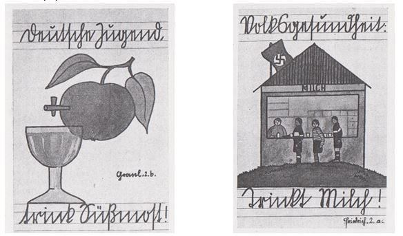 13_Alkoholfreie Jugenderziehung_1_1939_p13 und 14_Schule_Süßmost_Milch_Jugendliche_Wien