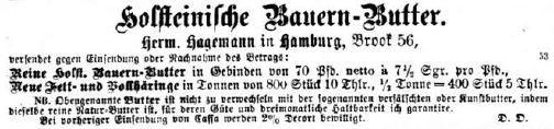 07_Illustrirte Zeitung_60_1873_p040_Butter_Versandgeschäft_Stadt-Land-Beziehungen_Hamburg_Holstein