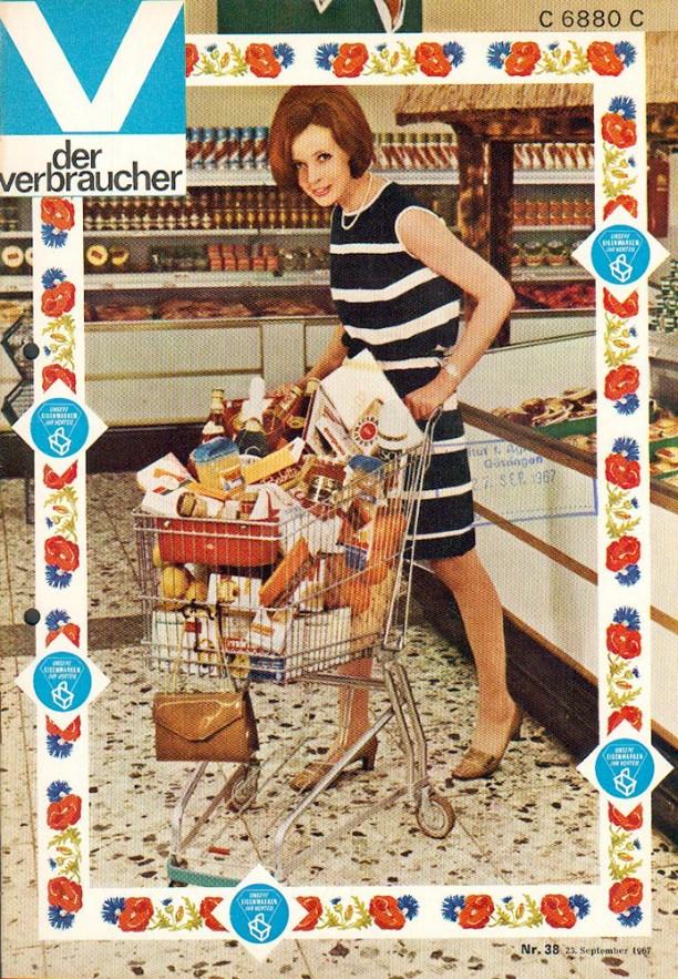 01_Der Verbraucher_1967_Nr38_pI_Verbraucherin_Einkaufen_Einkaufswagen