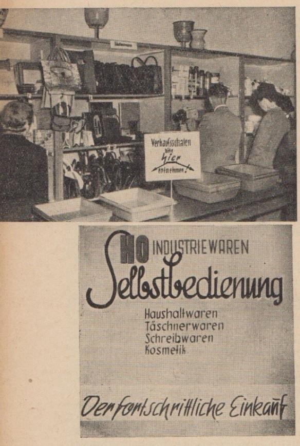 03_Der Handel_01_1951_p190_DDR_Einzelhandel_Selbstbedienung_Industriewaren_Dresden_Verkaufsstätte