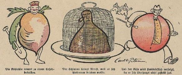 03_Lustige Blätter_33_1918_Nr14_p10_WKI_Agrarpolitik_Kohlrübe_Schinken_Käse_Lebensmittelversorgung