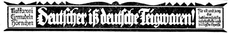 04_C.V-Zeitung_01_1922_p231_Nudeln_Eiernudeln_Nationale-Werbung_Gemeinschaftswerbung