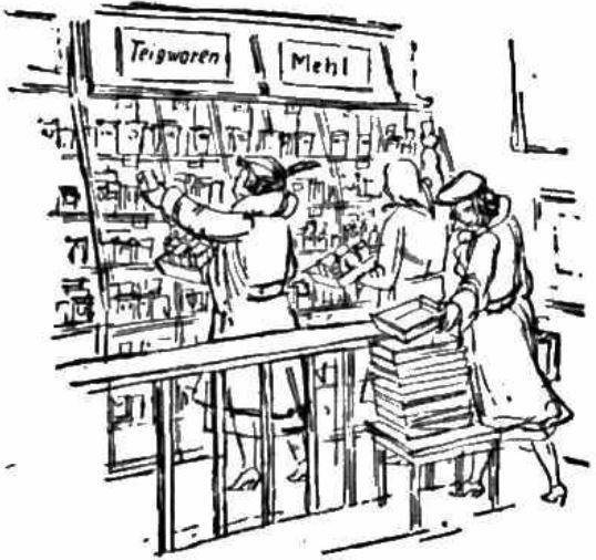 06_Berliner Zeitung_1953_01_25_Nr021_p06_DDR_Einzelhandel_Selbstbedienung_HO_Verkaufsstätte_Konsumentinnen