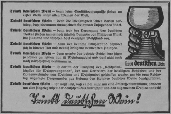 06_Zeitbilder_1927_03_27_p8_Gemeinschaftswerbung_Wein_Nationale-Werbung_Agrarmarketing