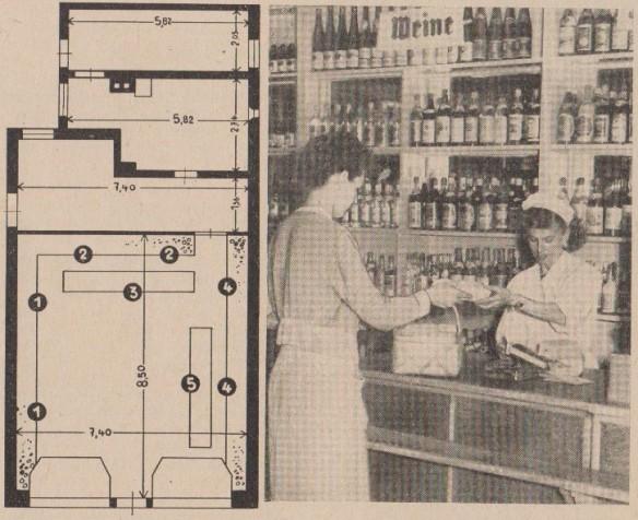 12_Der Handel_06_1956_H14_p24_DDR_Einzelhandel_Selbstbedienung_Neustrelitz_Käufer-Verkäufer_Verkaufsstätte