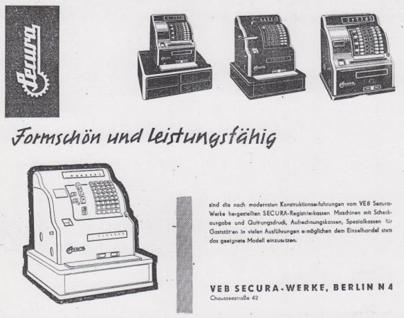 14_Handelswoche_03_1958_Nr49_p11_Registrierkassen_Secura_Berlin_Rechenmaschinen