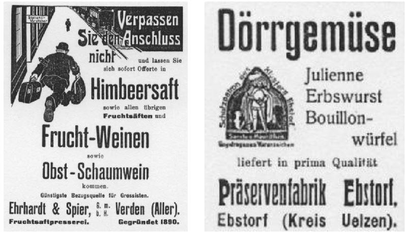 15_Der Materialist_35_1914_Nr02_p12_Gemüse_Dörrgemüse_Sirup_Fruchtwein_Himbeersaft_Ebsdorf_Verden