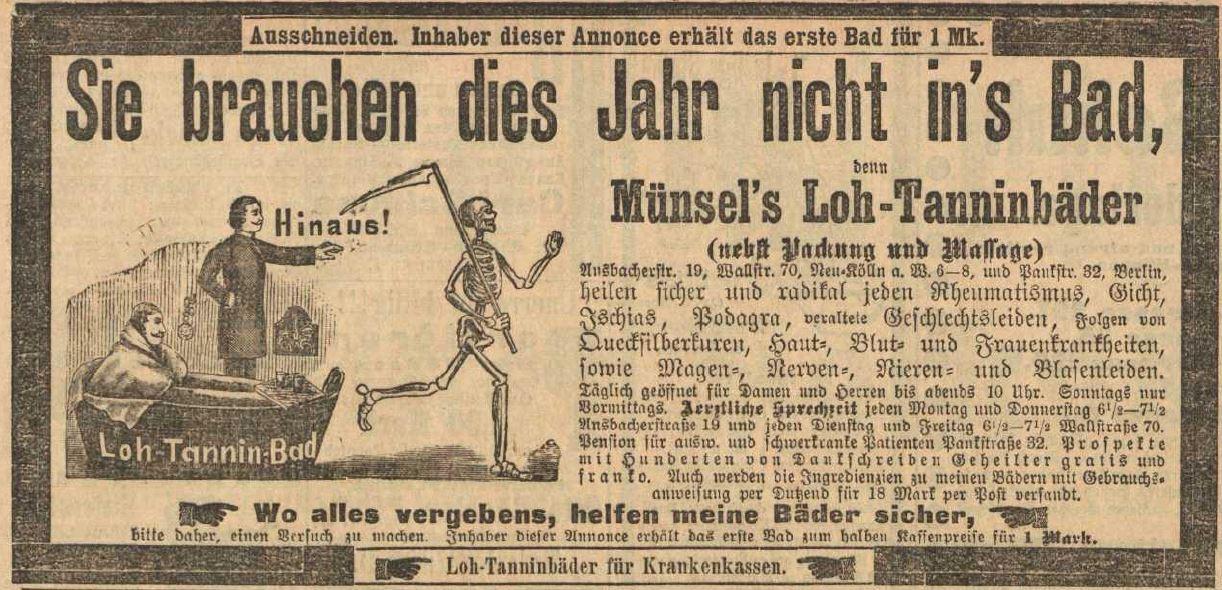 02_Vorwärts_1896_06_07_Nr131_p15_Bademittel_Münsel_Loh-Tannin_Sensenmann_Berlin_Badearzt